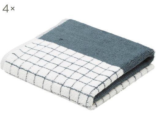 Asciugamano per ospiti One, 4 pz., Grigio, bianco, nero