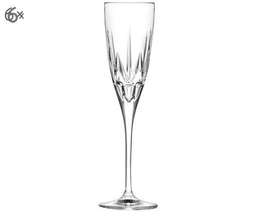 Flute da champagne in cristallo  Chic, 6 pz., Trasparente
