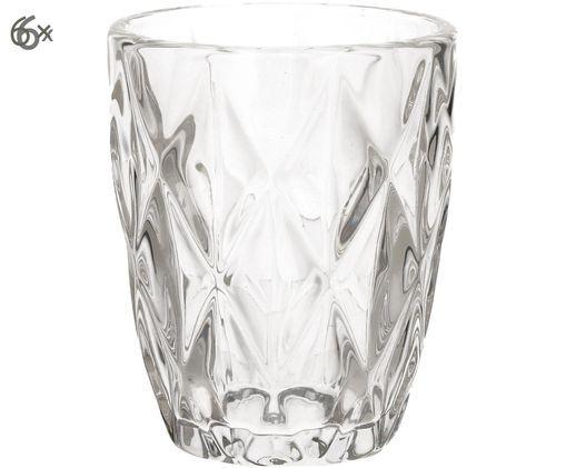 Vasos de agua Diamond, 6uds., Transparente
