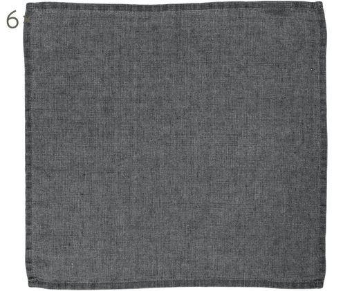 Serviettes de table en lin Ruta, 6 pièces, Gris