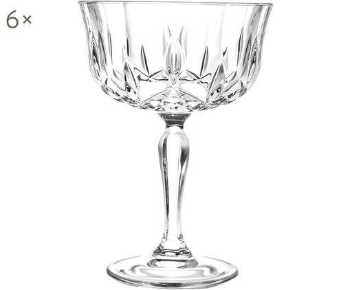 Coupes à champagne en cristal Opera, 6pièces, Transparent