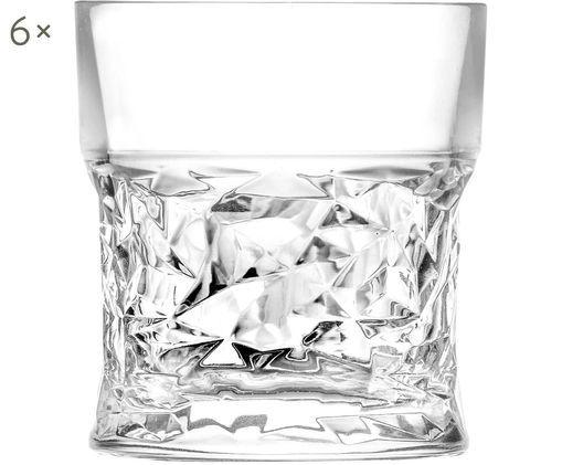 Vasos de whisky de cristal Bicchiero, 6uds., Transparente