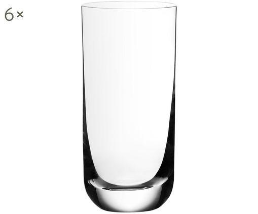 Kristall-Longdrinkgläser Harmony mit dünnem Kelchrand, 6er-Set, Transparent