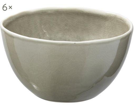 Schälchen Porcelino Sea, 6 Stück, Graugrün, Beige