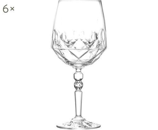 Bicchieri da vino bianco in cristallo Calicia, 6 pz., Trasparente