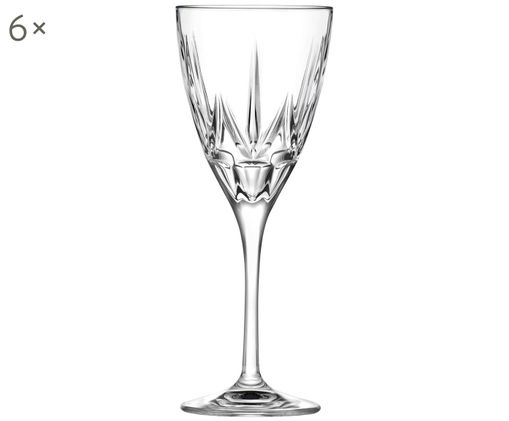 Bicchieri da vino bianco in cristallo  Chic, 6 pz., Trasparente