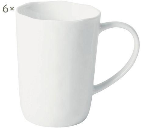 Tazza da caffè Porcelino, 6 pz., Bianco