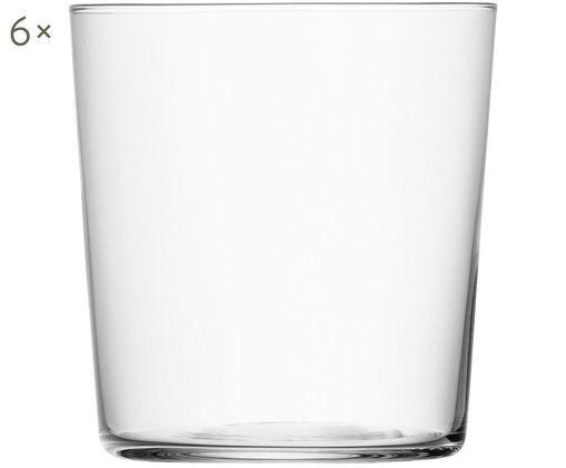 Vasos de agua Gio, 6uds., Transparente
