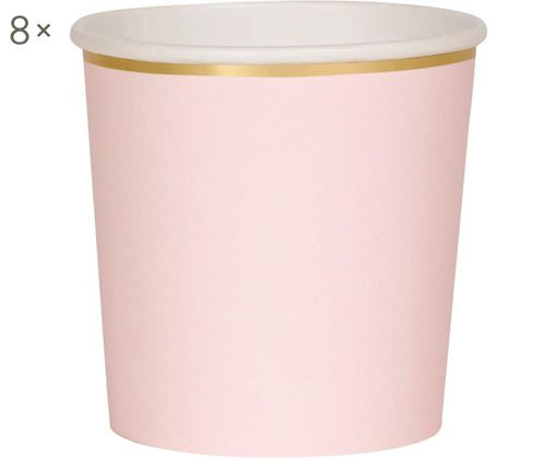 Tazza senza manico di carta Simply Eco, 8 pz., Rosa