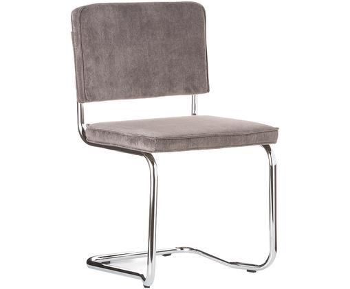 Silla cantilever Ridge Kink Chair, Gris