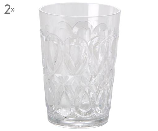 Bicchieri in acrilico Swirly, 2 pz., Trasparente
