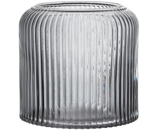 Vase Clear, Grau, transparent
