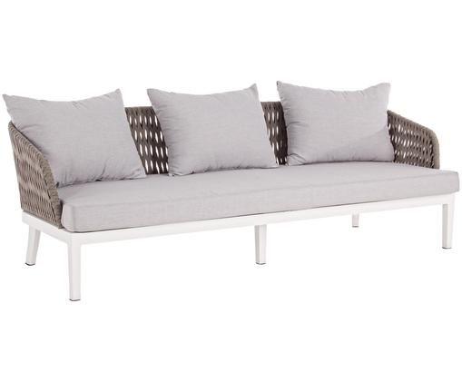 Sofa ogrodowa Pelican (3-osobowa), Biały, taupe