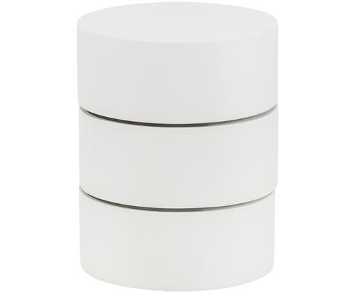 Beistelltisch Loka mit beweglichen Fächern, Weiß