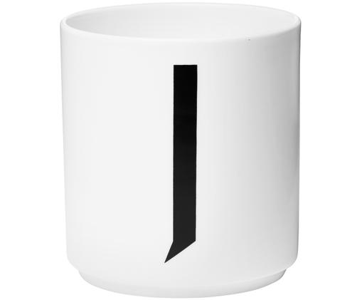 Mug J, Blanc, noir
