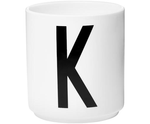 Kubek K, Biały, czarny