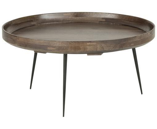 Design-Couchtisch Bowl Table aus Mangoholz, Graubraun