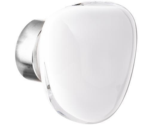 Ganci da parete Pebble, Bianco opale