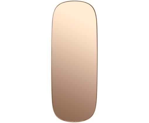 Wandspiegel Framed, Spiegelfläche: Spiegelglas, Rosé Rahmen: Rosé