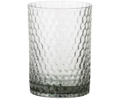 Glas-Zahnputzbecher Grey Crystal, Grau, leicht transparent