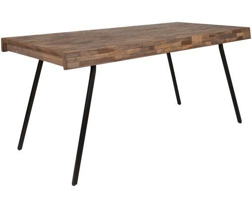 Esstisch Suri, Tischplatte: Teakholz Beine: Schwarz