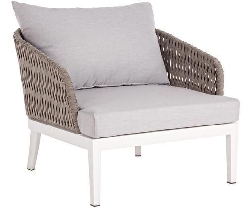 Krzesło ogrodowe Pelican, Biały, taupe