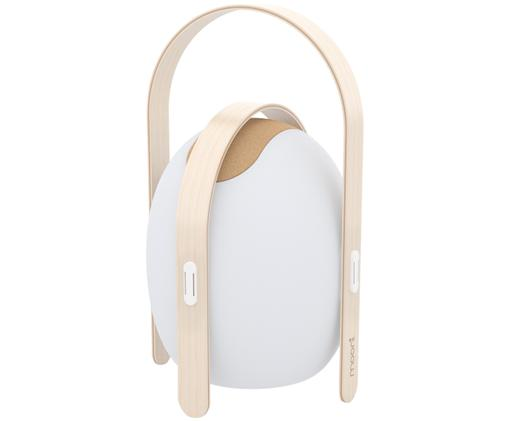 Mobiele LED buitenlamp met luidspreker Ovo, Wit, lichtbruin