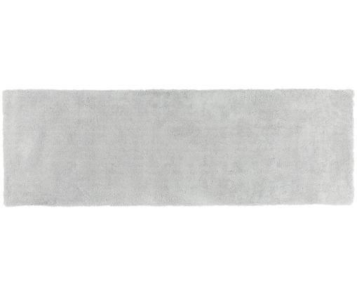 Flauschiger Hochflor-Läufer Leighton, Hellgrau