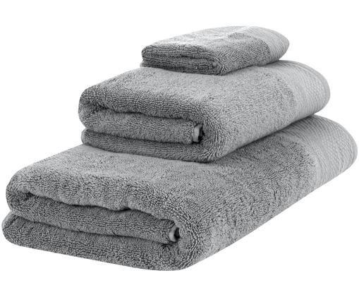Set asciugamani Premium, 3 pz., Grigio scuro