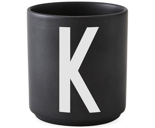 Kubek K, Czarny matowy, biały
