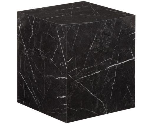 Beistelltisch Lesley in Marmoroptik, Schwarz, marmoriert