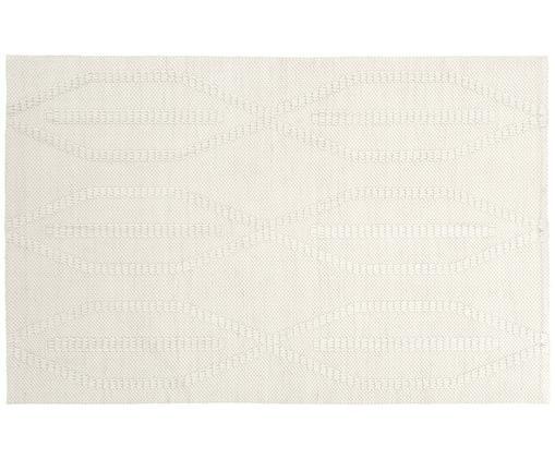 Handgewebter Teppich William, Creme