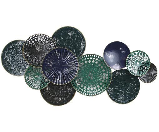 Dekoracja ścienna Plates, Niebieski, zielony