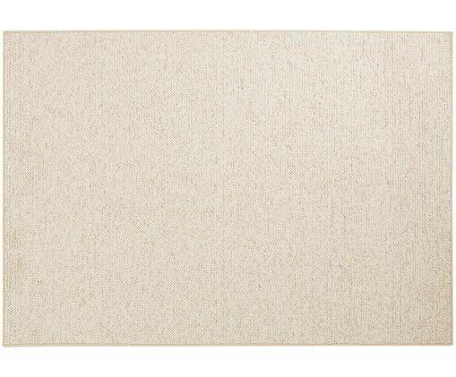 Teppich Lyon mit kleinen Stoffkugeln, Creme, melangiert
