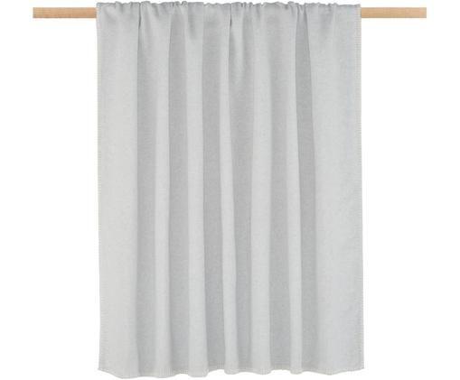 Manta de tela polar Sylt, Gris claro
