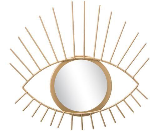 Lustro dekoracyjne Auge, Rama: odcienie złotego Lustro: szkło lustrzane
