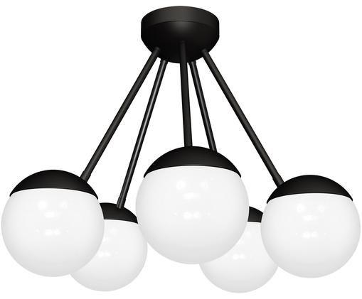 Plafonnier Sfera, Blanc, noir