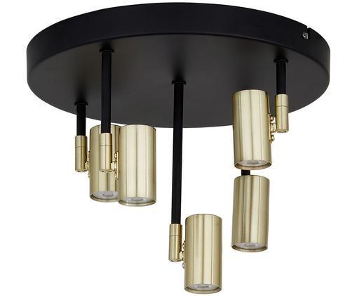 Lampada a sospensione a LED Wilson, Baldacchino: nero, opaco prese: ottonato