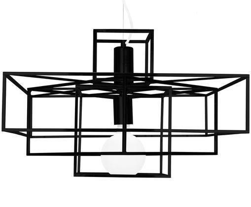 Lampada a sospensione Cube, Nero opaco