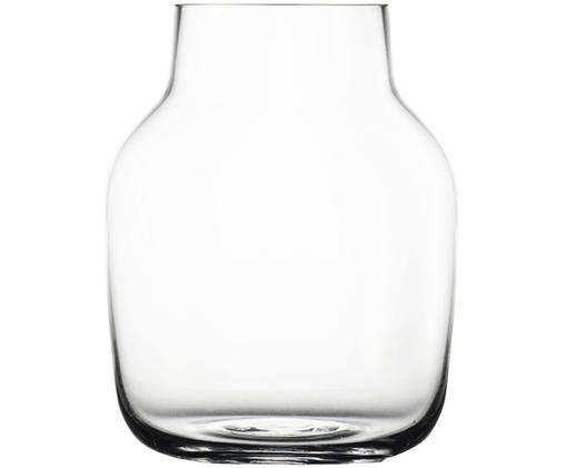 Mundgeblasene Design-Vase Silent, Transparent