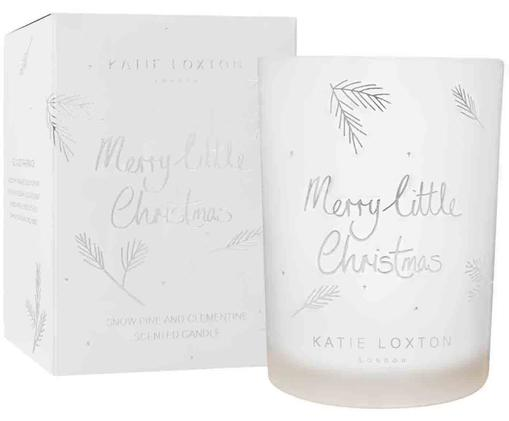 Candela natalizia profumata Merry Little Christmas, Bianco, argentato