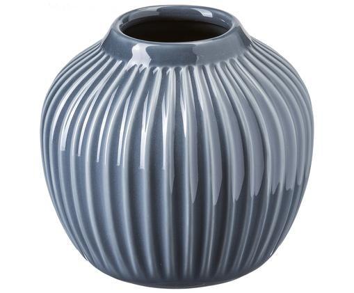 Handgefertigte Design-Vase Hammershøi, Anthrazit