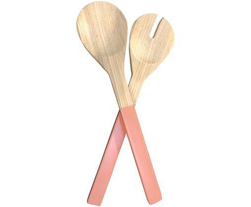 Saladebestekset Bamboe, 2-delig, Roze