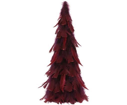 Albero decorativo in piume Fedora, Rosso scuro