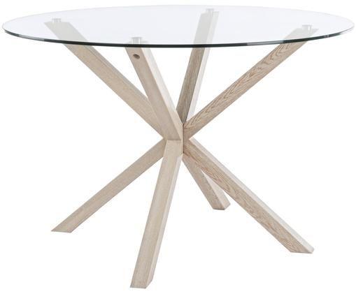 Stół do jadalni May, Transparentny, drewno dębowe