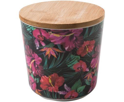 Pojemnik do przechowywania Tropical Flower, Odcienie zielonego, odcienie fuksji, czerwony, biały