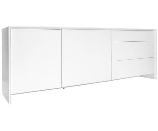 Modernes Sideboard Melvin in Weiß Matt, Weiß