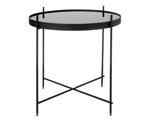 Tablett-Tisch Cupid mit Glasplatte, Schwarz