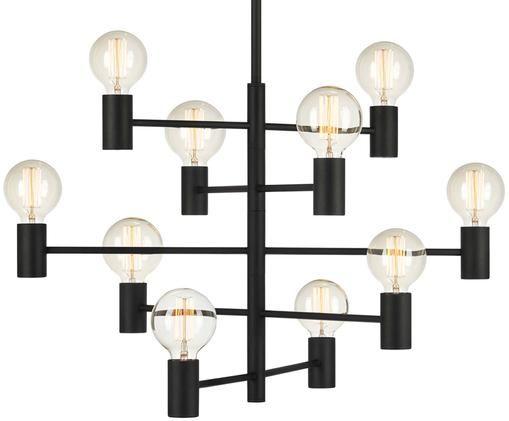 Hanglamp Paris, Lamp: zwart. Snoer: transparant