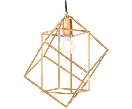 Lámpara de techo Babylon, Óptica dorada